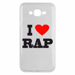 Чехол для Samsung J7 2015 I love rap