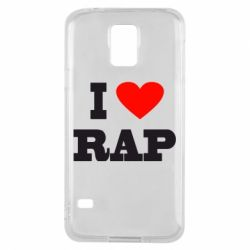 Чехол для Samsung S5 I love rap