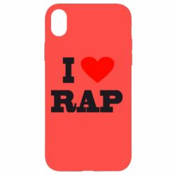 Чехол для iPhone XR I love rap