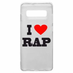 Чехол для Samsung S10+ I love rap