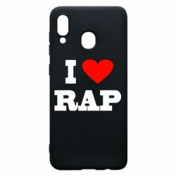 Чехол для Samsung A20 I love rap