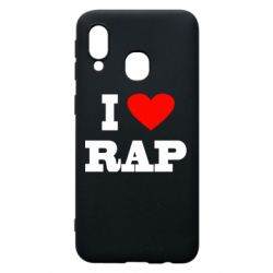 Чехол для Samsung A40 I love rap