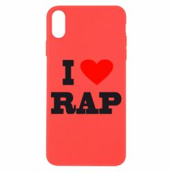 Чехол для iPhone X/Xs I love rap