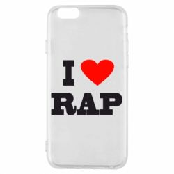 Чехол для iPhone 6/6S I love rap