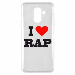 Чехол для Samsung A6+ 2018 I love rap