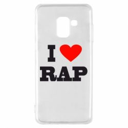 Чехол для Samsung A8 2018 I love rap