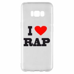 Чехол для Samsung S8+ I love rap
