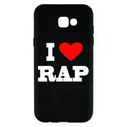 Чехол для Samsung A7 2017 I love rap