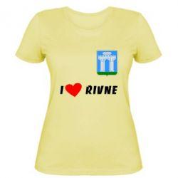 Женская футболка I love Rivne - FatLine