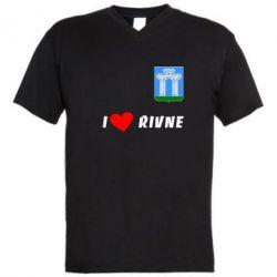 Мужская футболка  с V-образным вырезом I love Rivne - FatLine