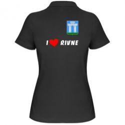 Женская футболка поло I love Rivne
