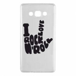 Чохол для Samsung A7 2015 I love rock'n'roll