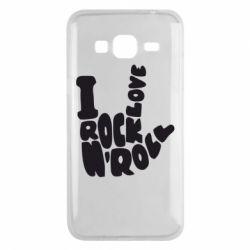 Чохол для Samsung J3 2016 I love rock'n'roll