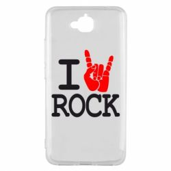 Чехол для Huawei Y6 Pro I love rock - FatLine