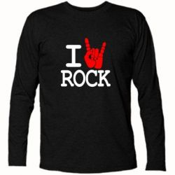 Футболка с длинным рукавом I love rock - FatLine