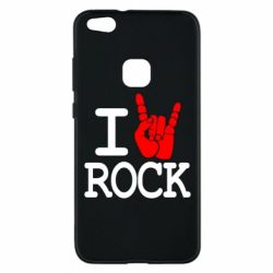 Чехол для Huawei P10 Lite I love rock - FatLine