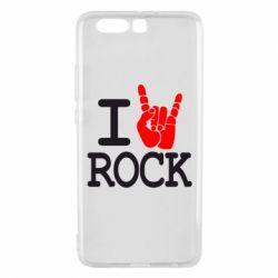 Чехол для Huawei P10 Plus I love rock - FatLine