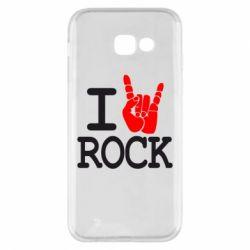 Чехол для Samsung A5 2017 I love rock - FatLine