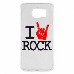 Чехол для Samsung S6 I love rock - FatLine