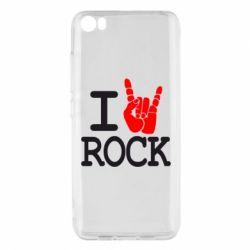 Чехол для Xiaomi Xiaomi Mi5/Mi5 Pro I love rock - FatLine
