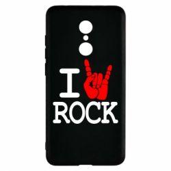 Чехол для Xiaomi Redmi 5 I love rock - FatLine