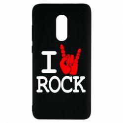 Чехол для Xiaomi Redmi Note 4 I love rock - FatLine