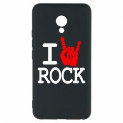 Чехол для Meizu M5 I love rock - FatLine