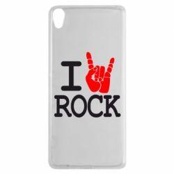 Чехол для Sony Xperia XA I love rock - FatLine