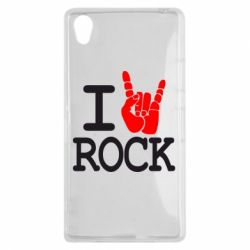 Чехол для Sony Xperia Z1 I love rock - FatLine
