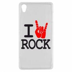 Чехол для Sony Xperia Z3 I love rock - FatLine