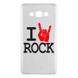 Чехол для Samsung A7 2015 I love rock - FatLine