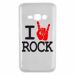 Чехол для Samsung J1 2016 I love rock - FatLine