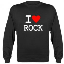 Реглан (свитшот) I love rock - FatLine