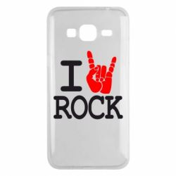 Чехол для Samsung J3 2016 I love rock - FatLine