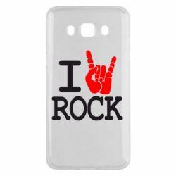 Чехол для Samsung J5 2016 I love rock - FatLine