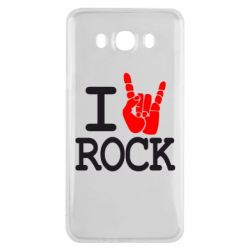 Чехол для Samsung J7 2016 I love rock - FatLine