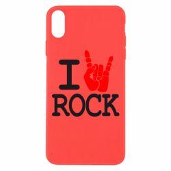 Чехол для iPhone Xs Max I love rock - FatLine