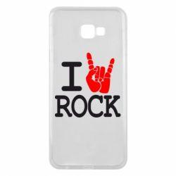 Чехол для Samsung J4 Plus 2018 I love rock - FatLine