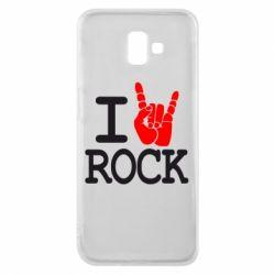 Чехол для Samsung J6 Plus 2018 I love rock - FatLine