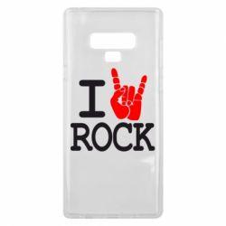 Чехол для Samsung Note 9 I love rock - FatLine