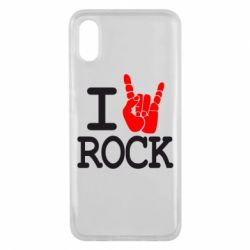 Чехол для Xiaomi Mi8 Pro I love rock - FatLine