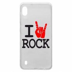 Чехол для Samsung A10 I love rock