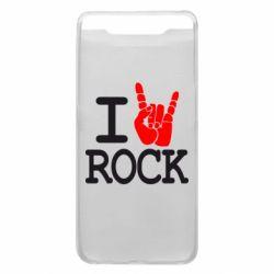 Чехол для Samsung A80 I love rock