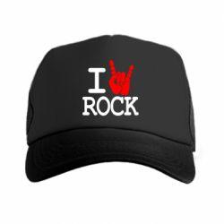 Кепка-тракер I love rock - FatLine