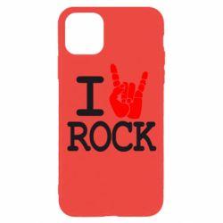 Чехол для iPhone 11 Pro I love rock
