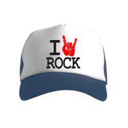 Детская кепка-тракер I love rock