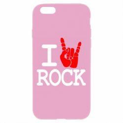 Чехол для iPhone 6 Plus/6S Plus I love rock - FatLine