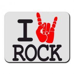 Коврик для мыши I love rock - FatLine