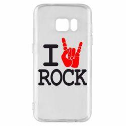 Чехол для Samsung S7 I love rock - FatLine