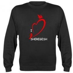 Реглан (свитшот) I love Sheregesh - FatLine